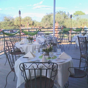 gator trace patio reception setting