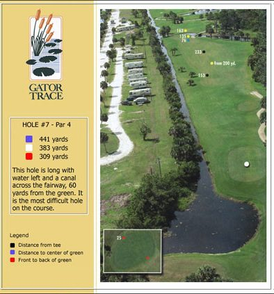 hole 7 yardage and aerial
