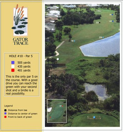 hole 10 yardage and aerial