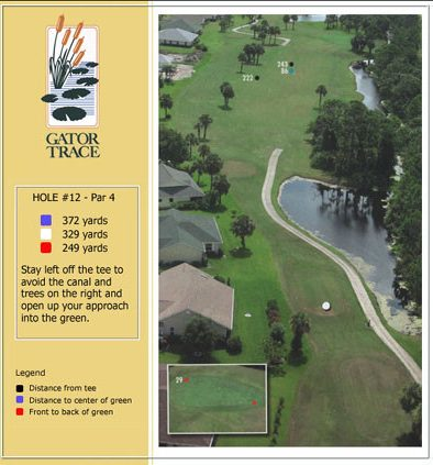 hole 12 yardage and aerial
