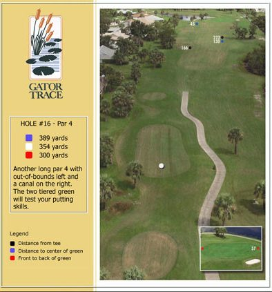 hole 16 yardage and aerial
