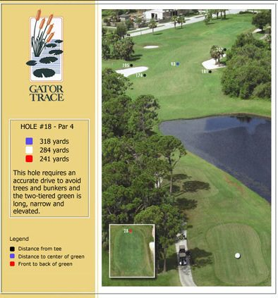 hole 18 yardage and aerial