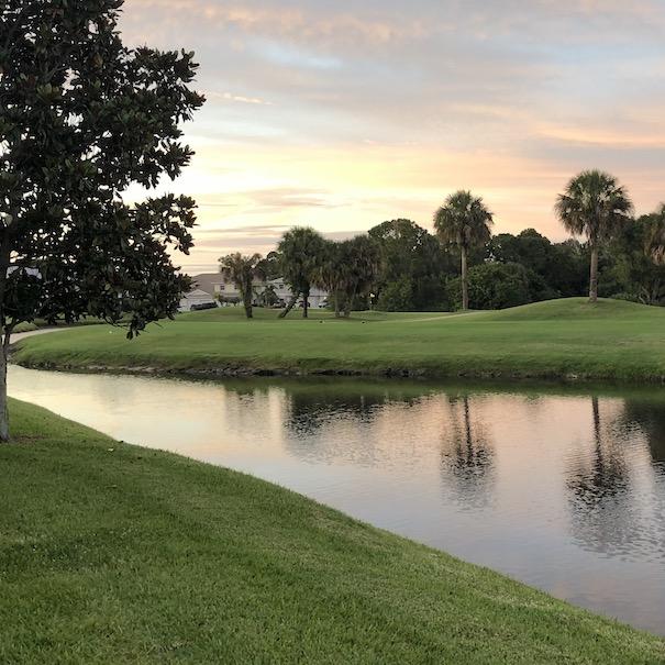 dusk near hole 8 green