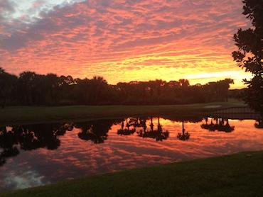 amazing sunset 2014 at Gator Trace