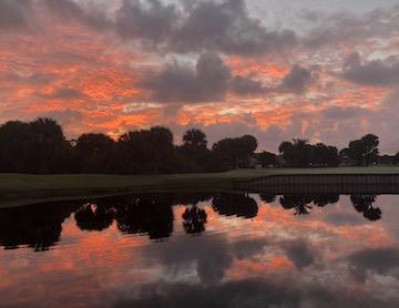 gator trace November sunrise over hole 9