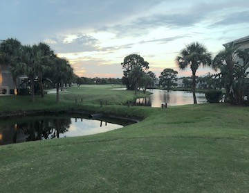 gator trace hole 6 from blue tees evening