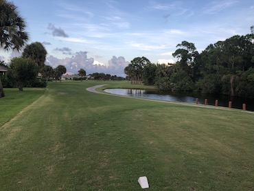 tee box on hole 12 at Gator Trace