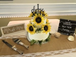 Gator Trace wedding cake